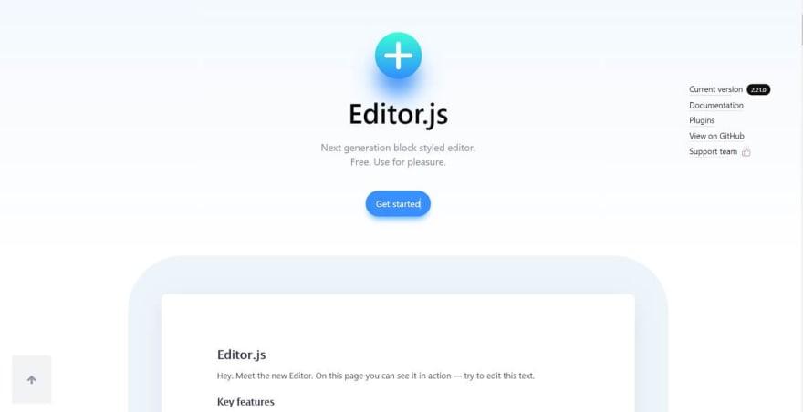 EditorJS - Block Styled Editor.