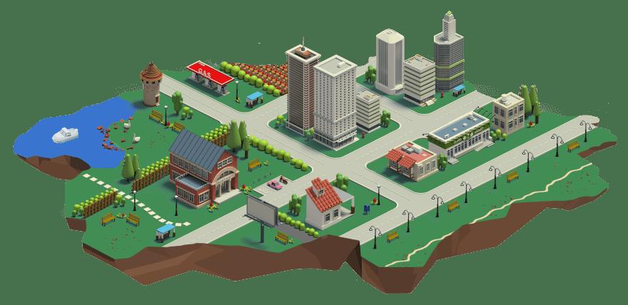 island-town