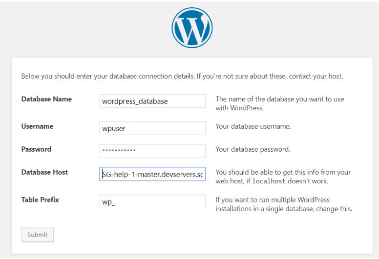 WordPress Installation Using ScaleGrid MySQL Database Host