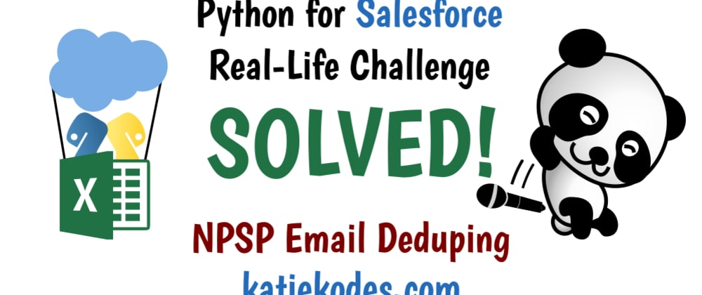 Cover image for Deduplicate Salesforce Contact Email Addresses with Python