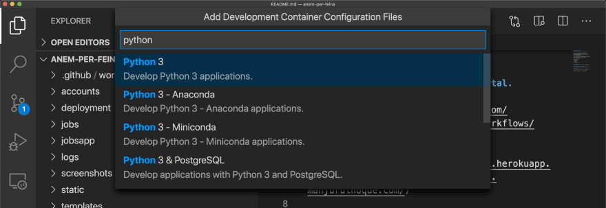 Using python3 configuration for this project