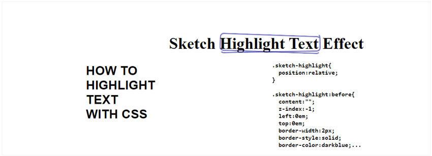 Sketch CSS Highlight Text Effect