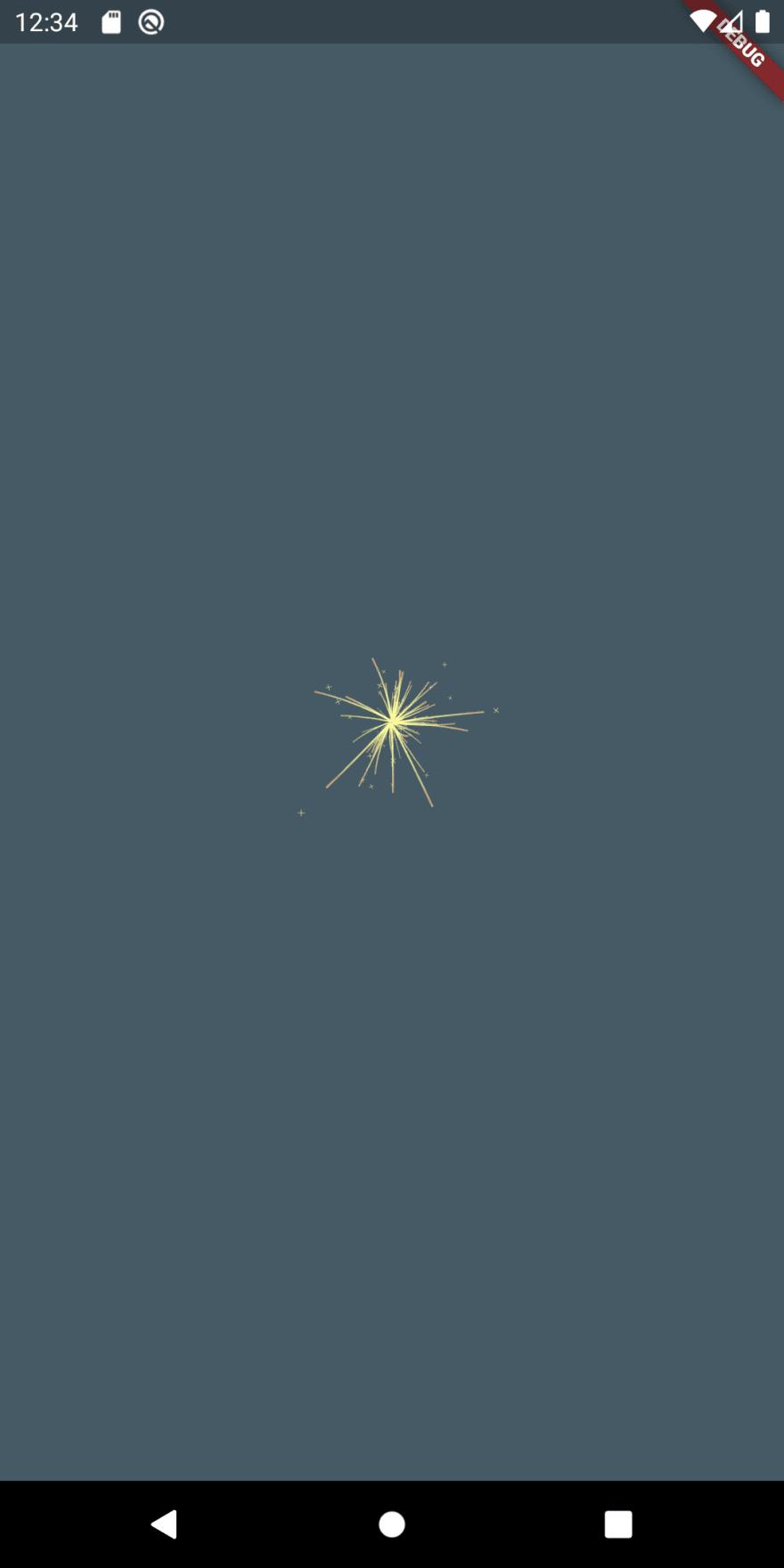 Flutter sparkler iteration 4