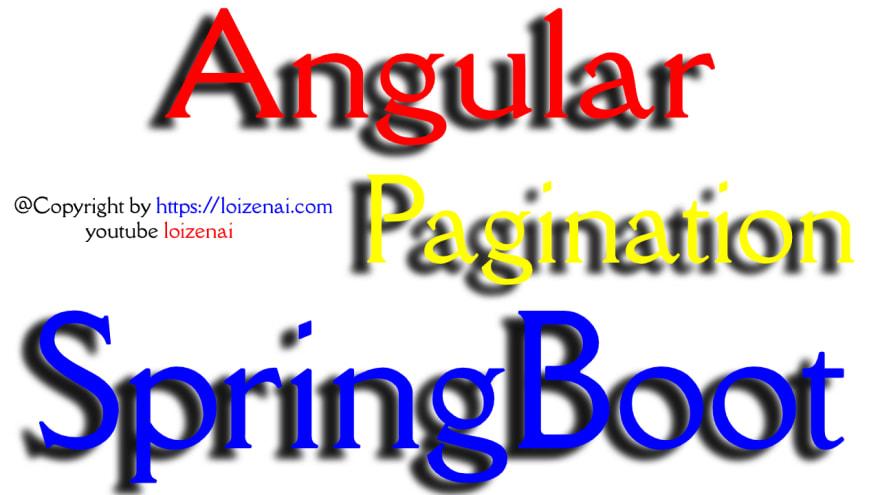 SpringBoot Angular Pagination Example