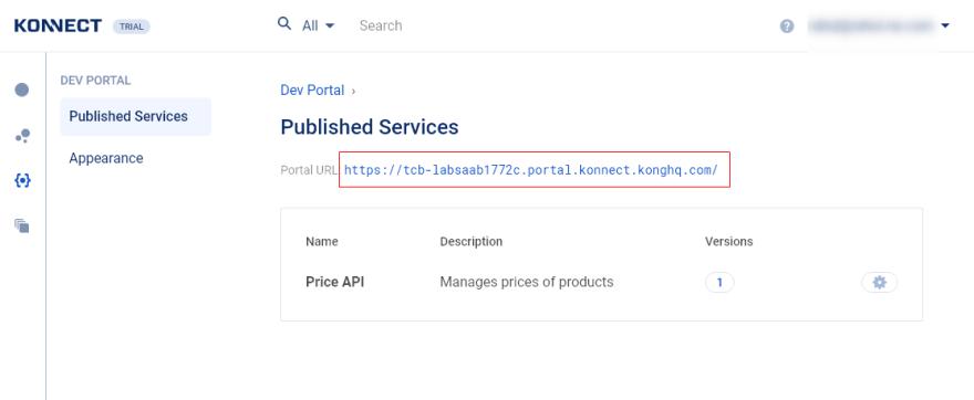 Dev Portal details