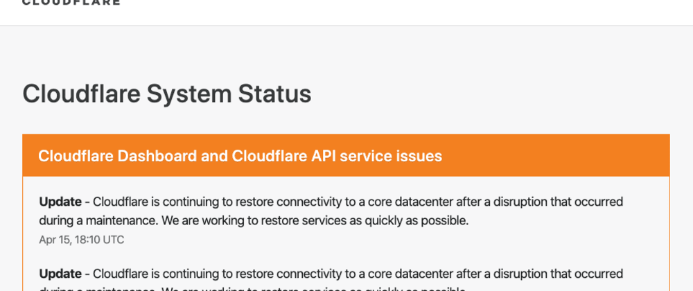 Cover image for How to check if Cloudflare API working before making calls