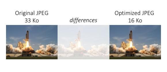 Original JPEG: 33BP. Optimized JPEG: 16KB. Not much differences.