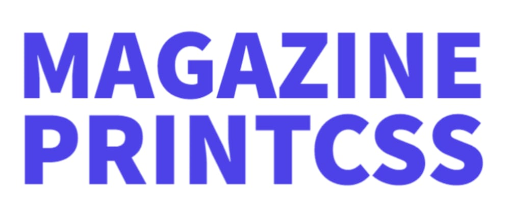 Cover image for Magazine the WordPress Plugin for PrintCSS