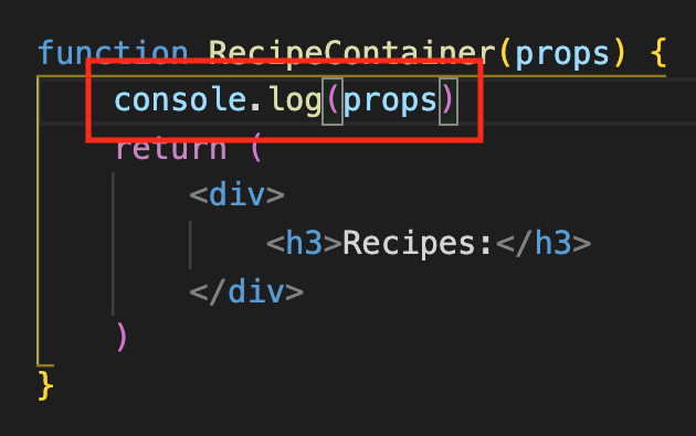 console.log with no curly braces