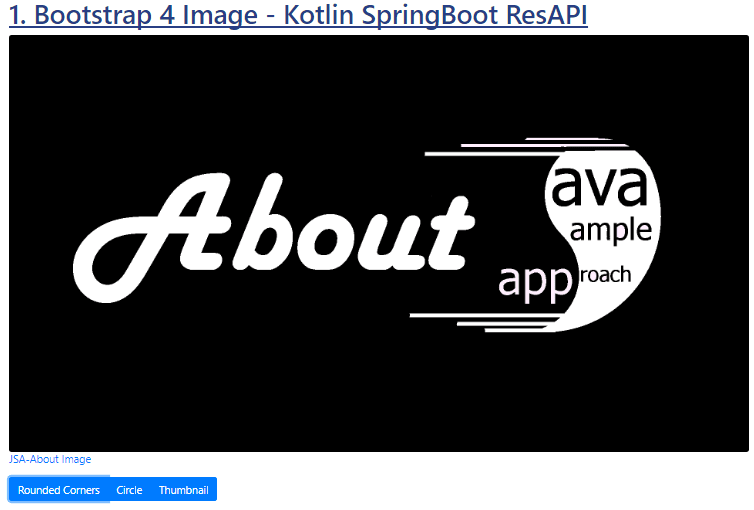 Kotlin SpringBoot - Bootstrap 4 Image - Jquery - rounded shape