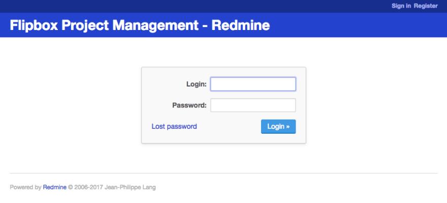 redmine minimalist login