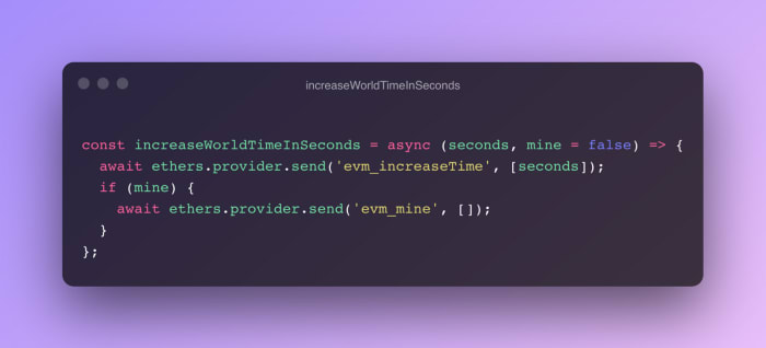 increaseWorldTimeInSeconds function
