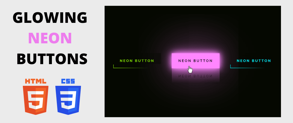Cover image for Day 1/30 : Create Glowing Neon Buttons using HTML and CSS
