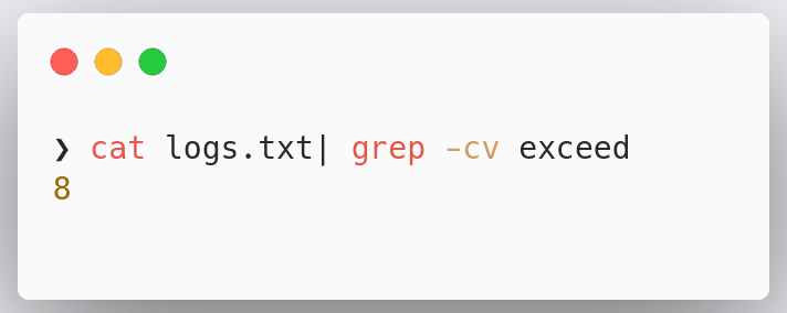 grep-invert
