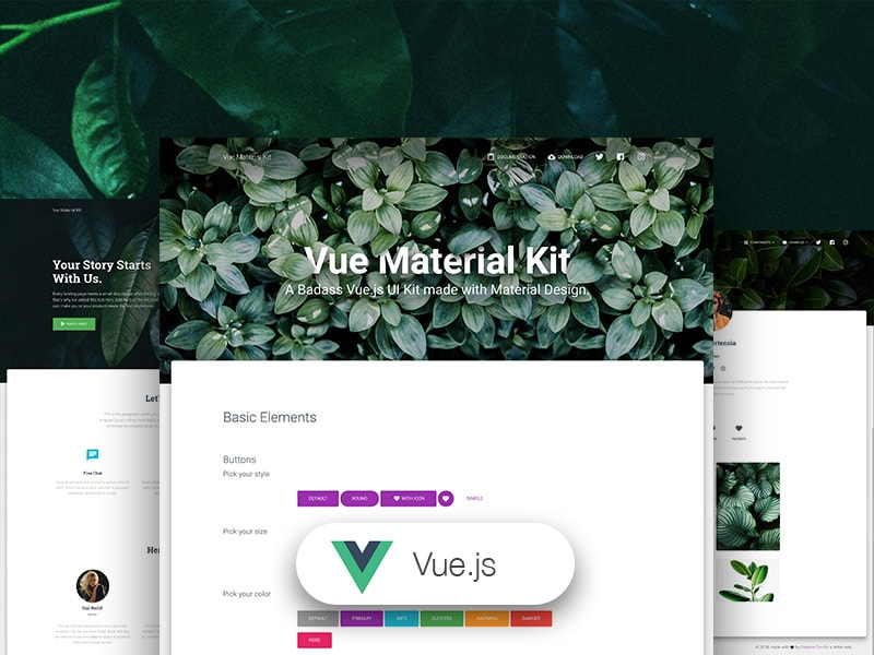 Vue Material Kit