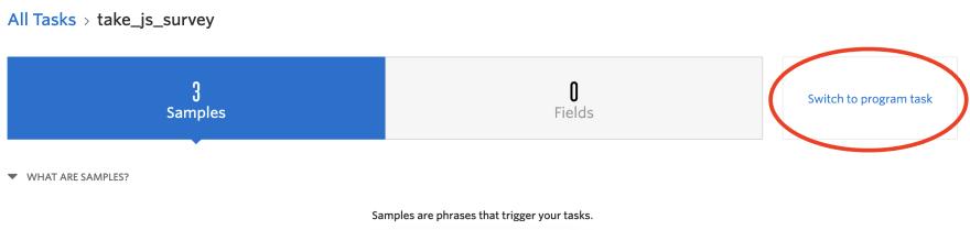 Switch to program task