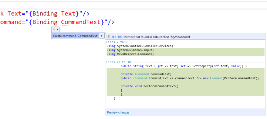 Code Generation from XAML in Visual Studio is Mind-blowing Awesome
