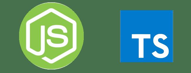 Nodejs and Typescript logo