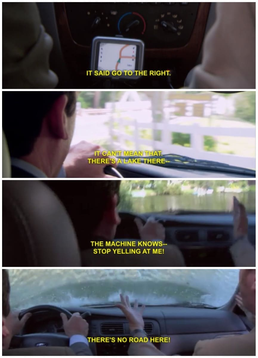 The Office Michael drives into a lake