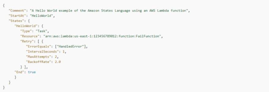 AWS Step Functions: HandledError example