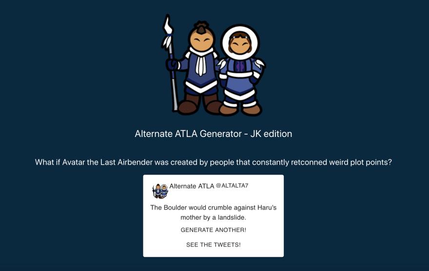 Tweet Generator hosted on Heroku