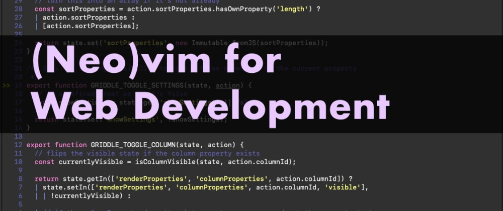 Cover image for (Neo)vim for Web development