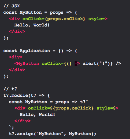 `style` attribute values are missing the double-curly-braces in both examples