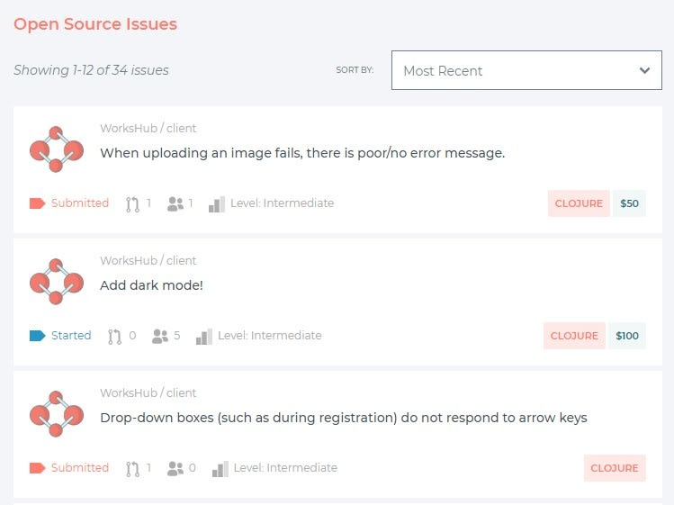 WorksHub issue tracker