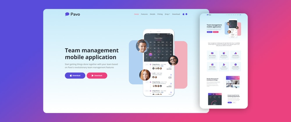 Cover image for Free Tailwind CSS Template For Mobile App Websites