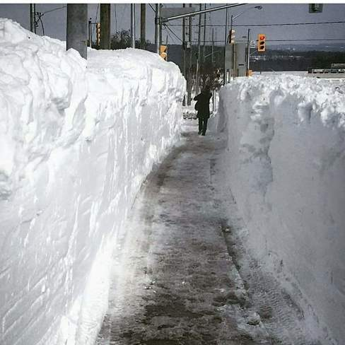A picture of a bad Canadian snowfall