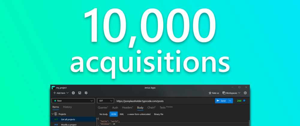 Cover image for An app I built now has 10,000 acquisitions!!