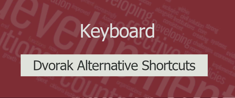 Cover image for Alternative shortcuts to cut-copy-paste with Dvorak