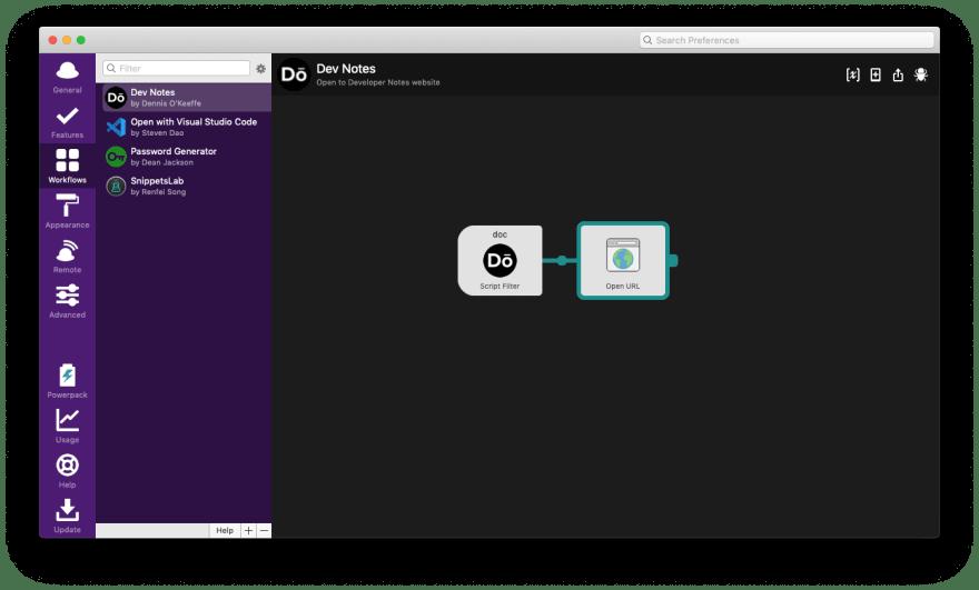 Open at URL workflow