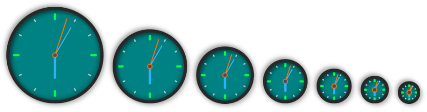 Clock sized