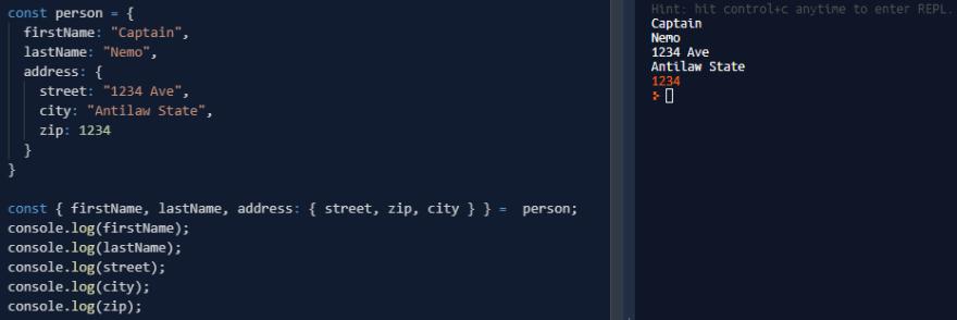 面向初学者的JavaScript中的对象分解