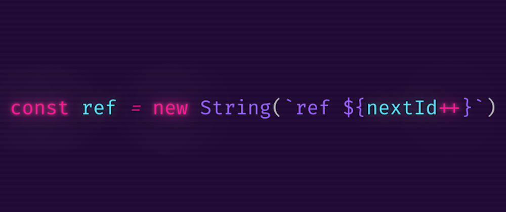 Cover image for JS tip: Create debug friendly unique references using String