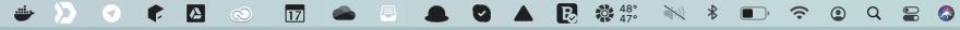 Menu bar icon glitch
