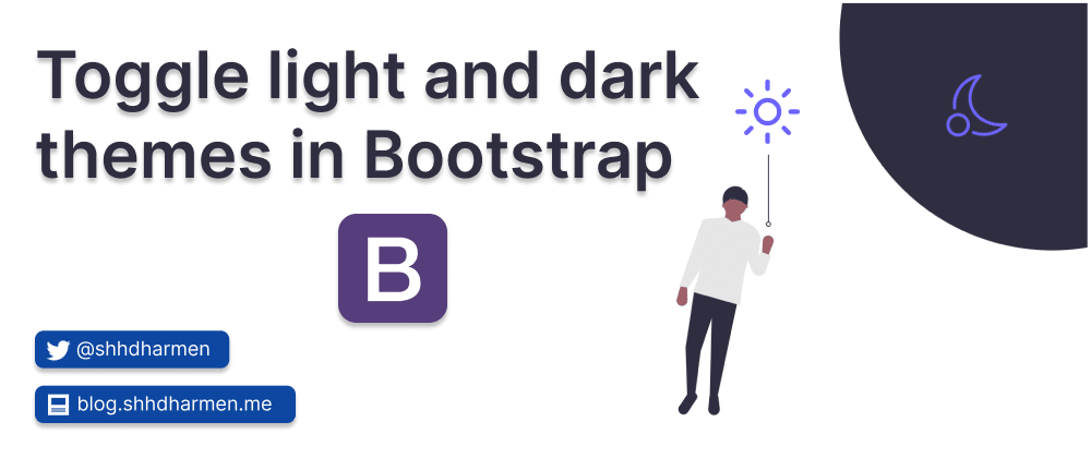 Cover image for Toggle light and dark themes in Bootstrap
