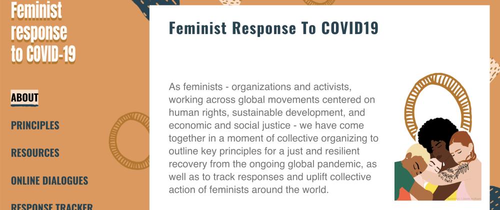 Cover image for ShowDev: COVID-19 Feminist Response site hit 12k visitors ✨ 🥳 🎉
