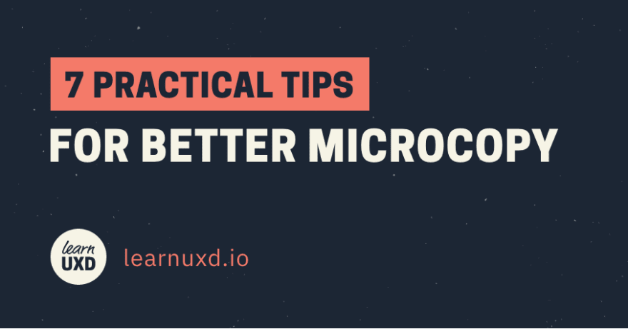7 Practical Tips for Better Microcopy