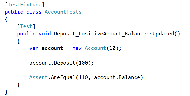 deposit positive amount test
