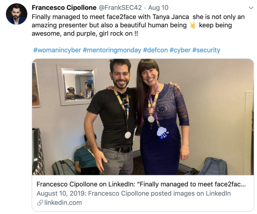 Follow my friend Francesco Cipollone on Twitter, he's All AppSec, All The Time.