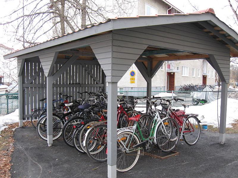 An image of an actual bike shed