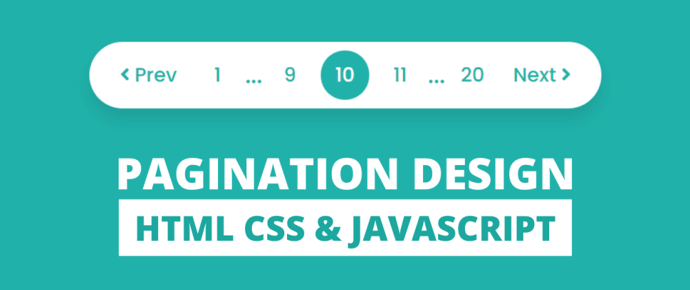 Cover image for Pagination UI Design using HTML CSS & JavaScript