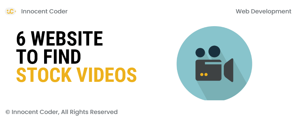 Cover image for 6 website to find stock videos