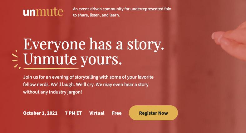 Unmute website jumbotron