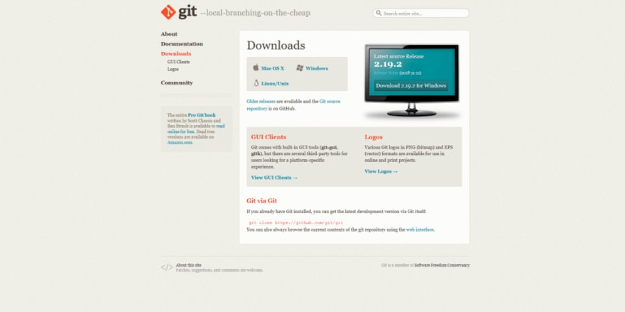 Download Git and install