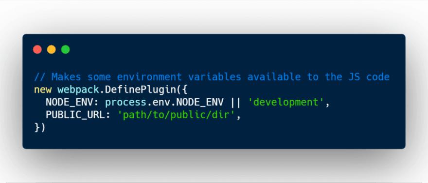 Webpack DefinePlugin basic use