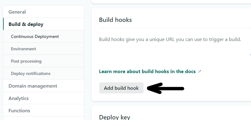 Add Build Hook