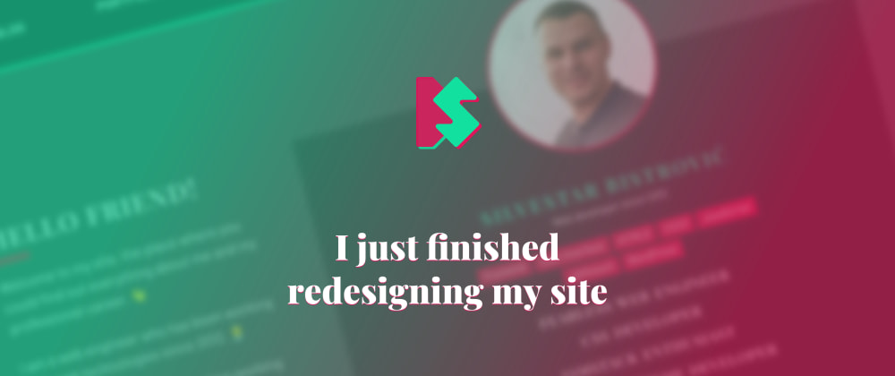 Cover image for I just finished redesigning my site